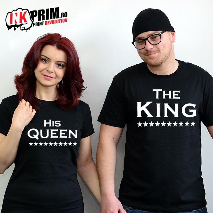 Set Tricouri Personalizate, cu mesajul The King & His Queen