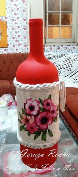 Garrafa Decorativa Barbante