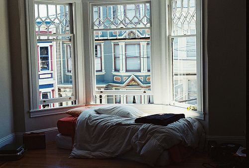 The bed. The view. It's perfect.