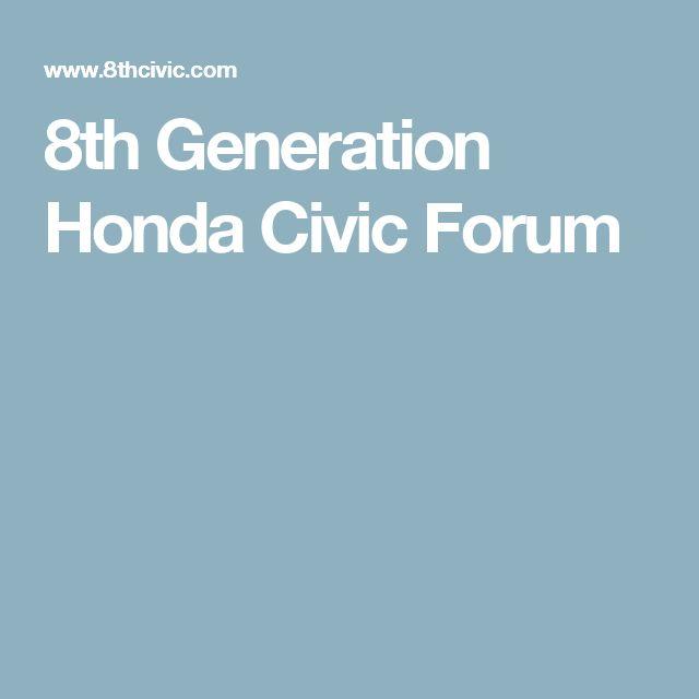 8th Generation Honda Civic Forum