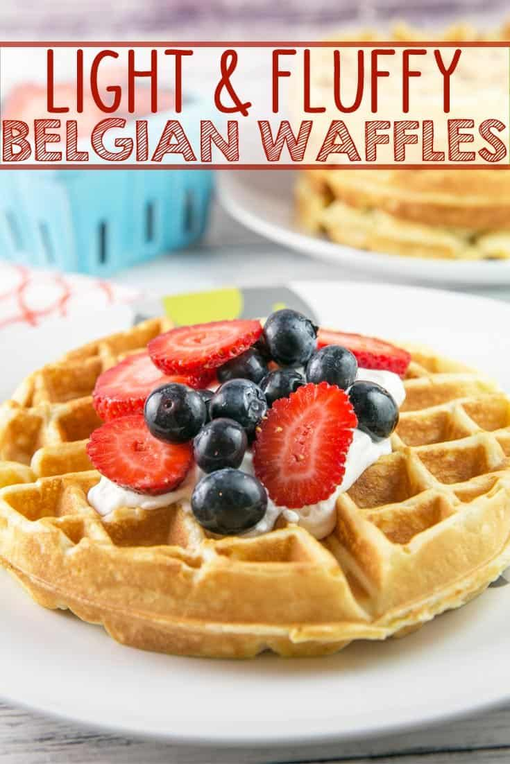 Belgian Waffles Be A Brunch Superstar With These Light And Fluffy Classic Belgian Waffles No Matter What Toppi Belgian Waffles Belgian Waffles Recipe Waffles