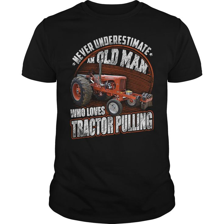 OLD MAN LOVES TRACTOR PULLING