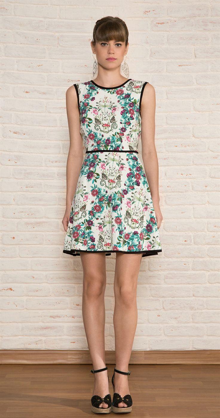 Vestido Curto Gato Jardim | Vestuário | Antix Store