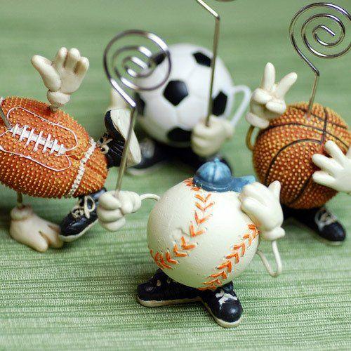 Sports Fan Place Card Holder by Beau-coup  @Ronnie Laine Kebert Laporte