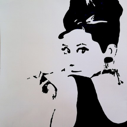 Audrey Hepburn Painting by Kelly Beaner