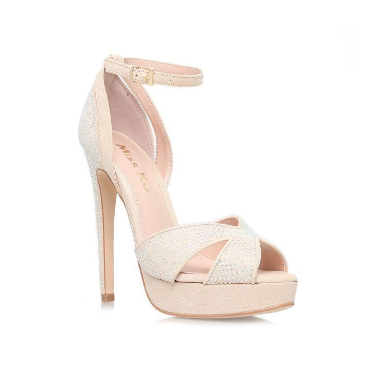 ella, nude shoe by miss kg - women high heels