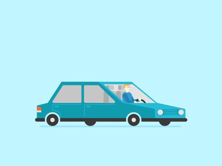 Dribble gif car blue