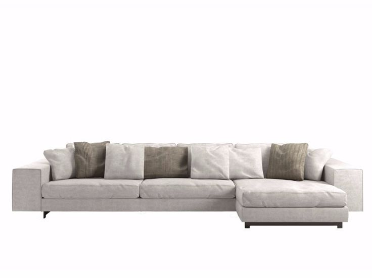 Canapé en tissu avec méridienne LANDSCAPE by DE PADOVA design Piero Lissoni