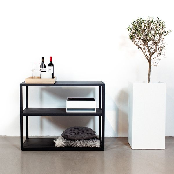 Simple Garden sideboard from R shults is a robust furniture in plated powder coated steel with same height