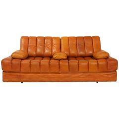 De Sede DS 85 Leather Sofa Bed, Switzerland