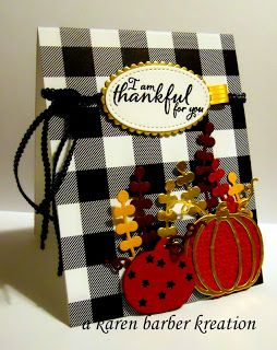 """A Stamper's Diary.............. Pressing On.......: """"FALLING"""" FOR GINGHAM AND THANKFUL FOR YOU!"""