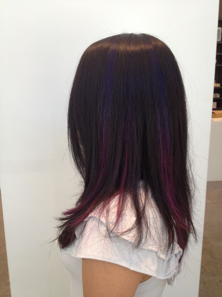 Purple and pink ombré peekaboo's! :)