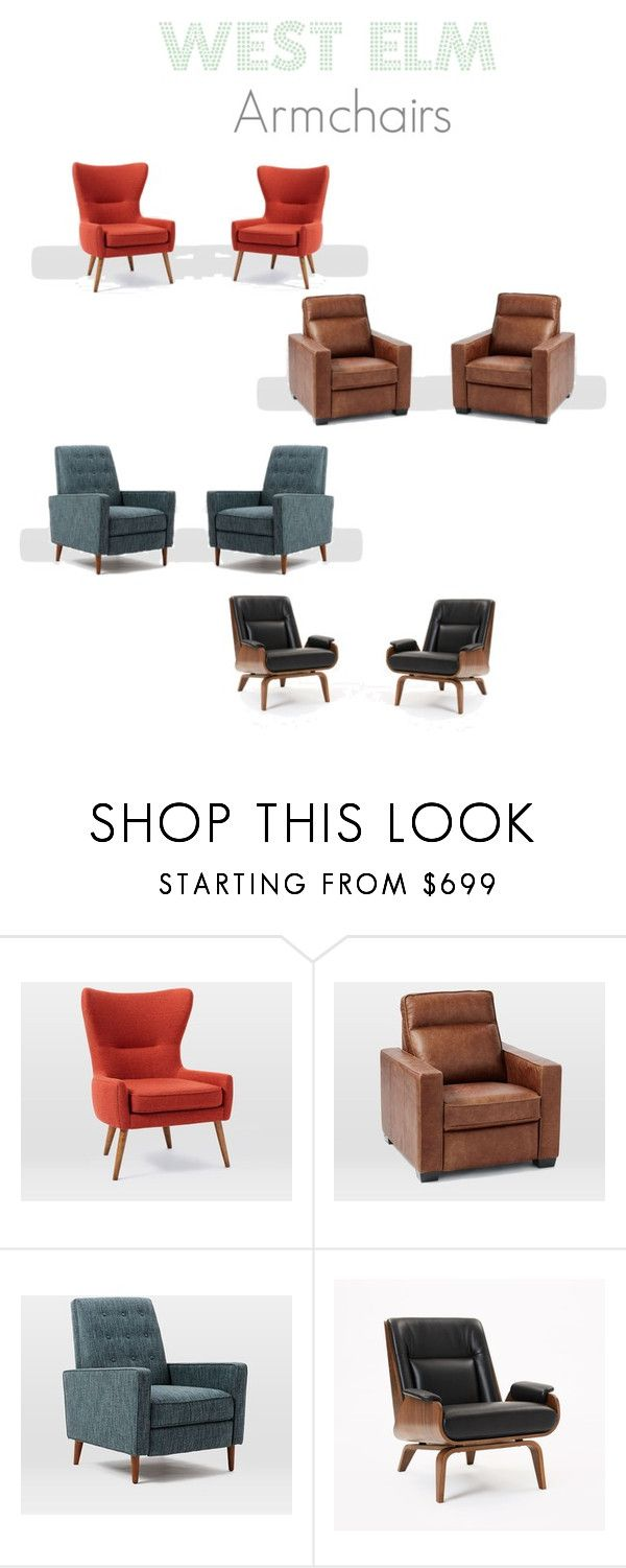West Elm Armchairs by littlenest1060 on Polyvore featuring interior, interiors, interior design, home, home decor, interior decorating and West Elm