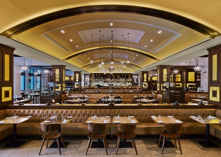 Gordon Ramsay's Bread Street Kitchen & Bar in Dubai. Hospitality design by Jeffrey Beers International, and photographed by Eric Laignel.