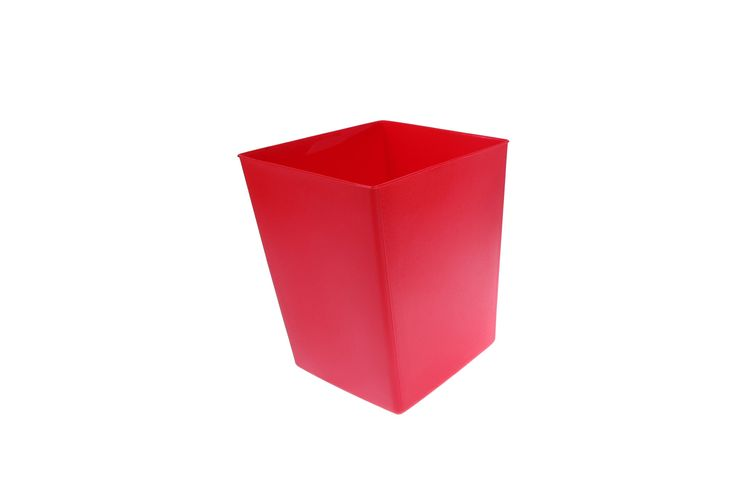 $14 Trash Can   Plastic Soft Molded Contemporary Home Office Decor  Decoration Wastebasket   Red Product