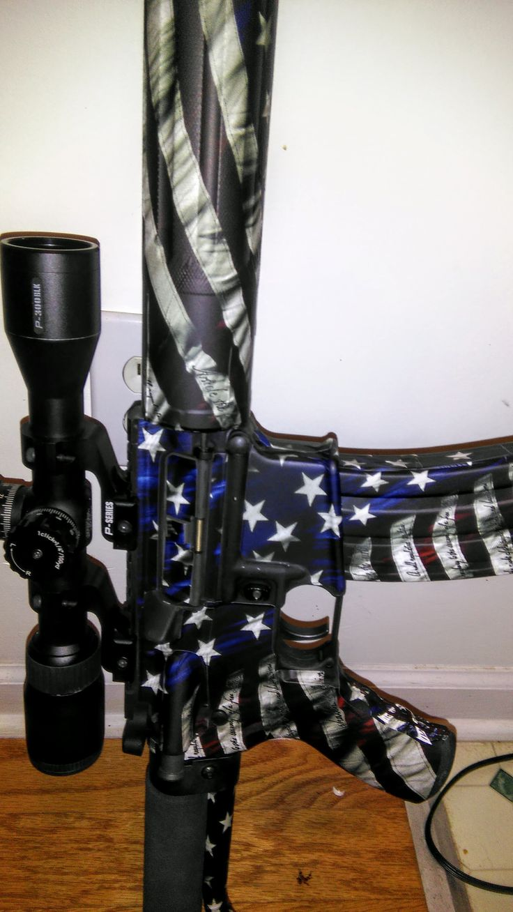 A customer recently shared with us their newly wrapped AR-15 Rifle. This one is celebrating the 4th of July with VICTORY! You could too with FREE SHIPPING all weekend long. Only at gunskins.com