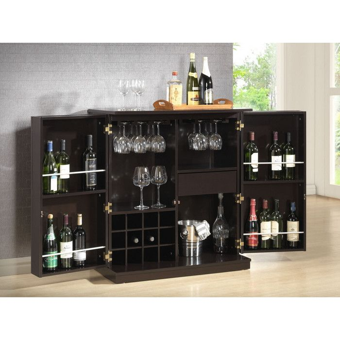 Baxton Studio Stamford Dark Brown Modern Bar Cabinet For The Best Deal  Price Of Furniture In Chicago.