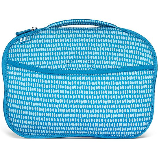 Diaper Buddy Changing Pad - Dribble Dots Blue, The Built Diaper Buddy Changing Pad folds up to fit in its own bag for easy storage. Pad has an interior pocket for diapers and wipes and an outer pocket for personal items.