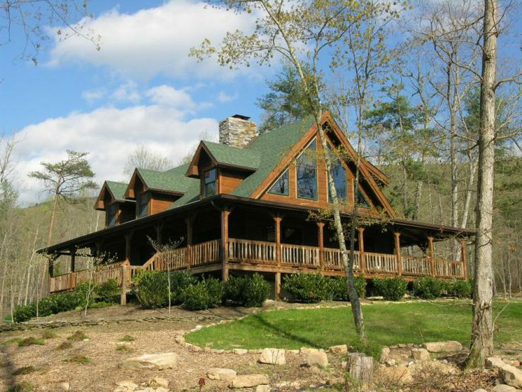86 best metal mania images on pinterest metal building for Log homes with wrap around porches