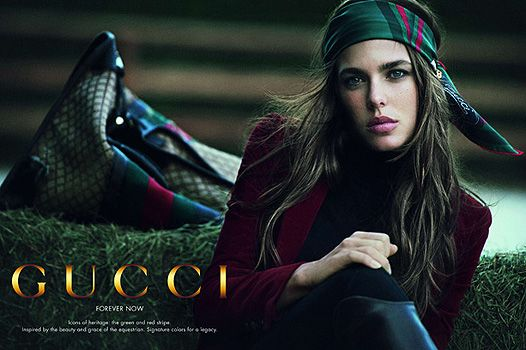 Charlotte Casiraghi for Gucci (Grace Kelly's grand daughter, daughter of Princess Caroline) Beautiful.
