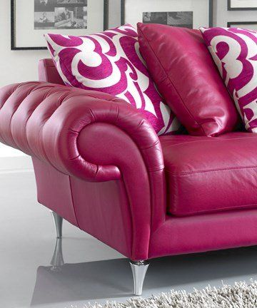 Best Pink Leather Sofas Ideas On Pinterest Colorful Eclectic - Leather sofas and chairs uk