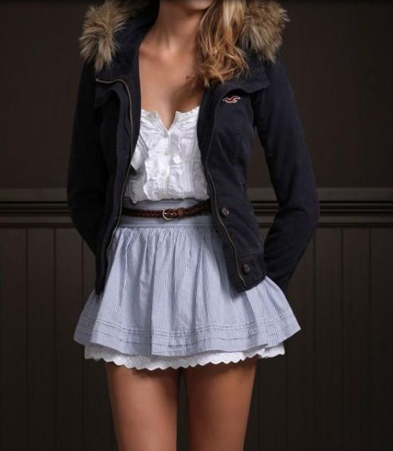 Hollister outfit.. I need more of these!  i would want the skirt to be longer though
