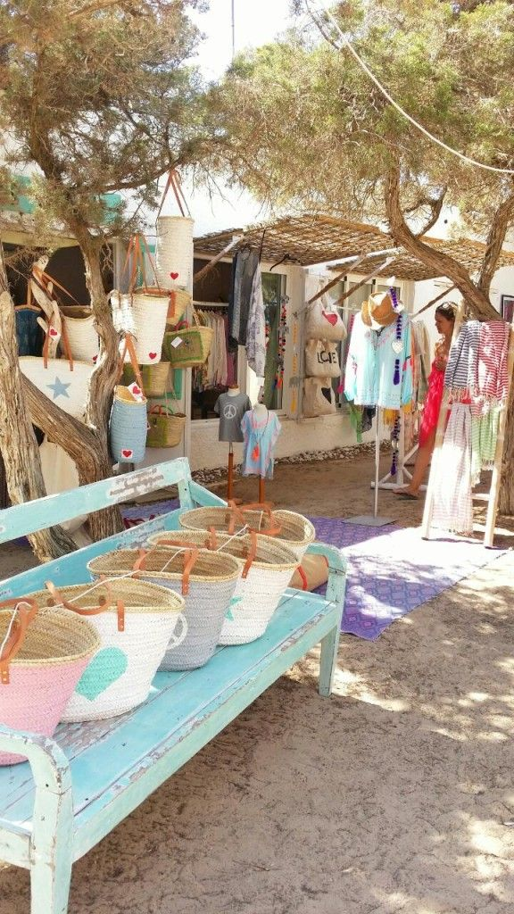 Beach Shop at Calla Bassa Beach Club Check out my latest post on Hip and Hippie Places to Hang Out In Ibiza www.bikinisandbibs.co.uk
