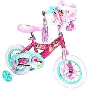 "Huffy Disney Princess 12"" Girls' Bike, Pink by Huffy. $89.99. ?Disney Princess design ?Training wheels ?Rotating bell ?Streamers ?Steel frame ?1 speed ?Coaster brakes ?12"" x 2.125"" sidewalk tires with heart treads ?Steel rims ?High-rise handlebars ?Quick-release padded seat ?Junior-sized pedals ?Assembly required"