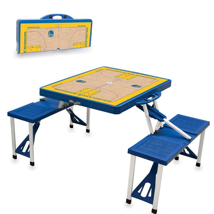 Golden State Warriors Picnic Time Portable Picnic Table - Golden State Warriors - Official Online Store