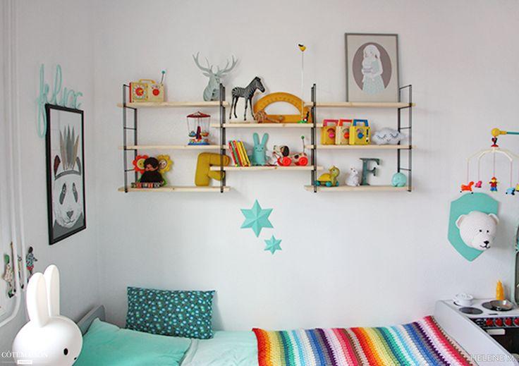 Une chambre d 39 enfant l 39 ambiance vintage et color e for Chambre enfant coloree