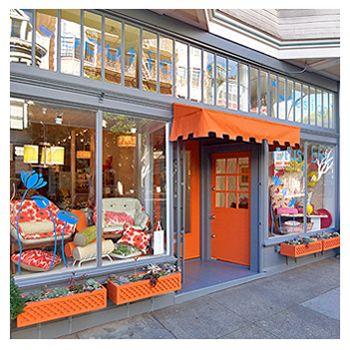 Lotus BleuLotus B Eu, Orange, 325 Hay, Storefront, Lotus Beu, Hay Street, San Francisco, Lotus Bleu Interiors, Bleu Boutiques