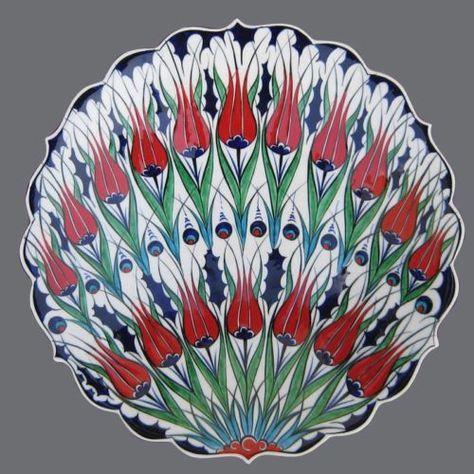 Turkish Ottoman Persian Iznik Ceramic Tile Plate Tulip Rose Mexican Talavera   eBay