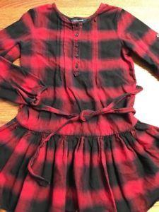 Ralph Lauren Girls Size 10 Black, Red Plaid Long Sleeve Flannel Shirt Dress .99  | eBay
