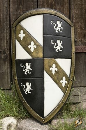 Lion Larp Shield White