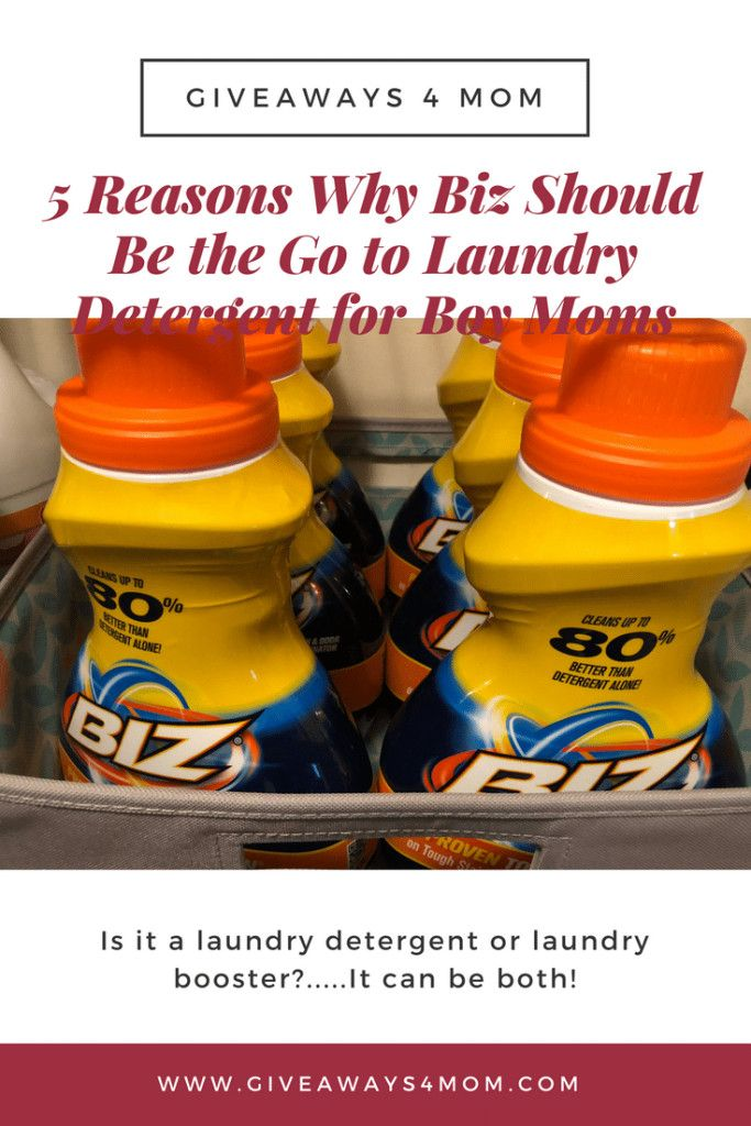 5 Reasons Why Biz Should Be The Go To Laundry Detergent For Boy