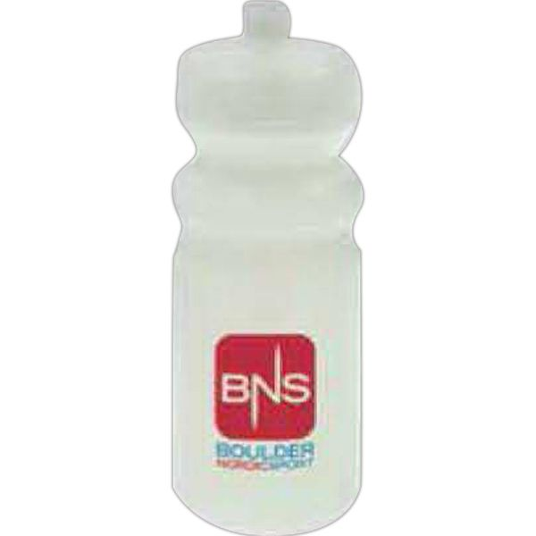 20 oz Biodegradable Sport Bottle 20FRSTBB - This 20 oz sport bottle is both BPA free and biodegradable. Designed with a push/pull lid and a ridged neck. Perfect for promoting gyms, sporting goods stores, and athletic events. Makes a great giveaway at trade shows and conventions, too! This environmentally friendly bottle may be customized with your company name and logo or purchased without imprint. Never out of stock! Hand wash only. Proudly made in the USA. #propelpromo