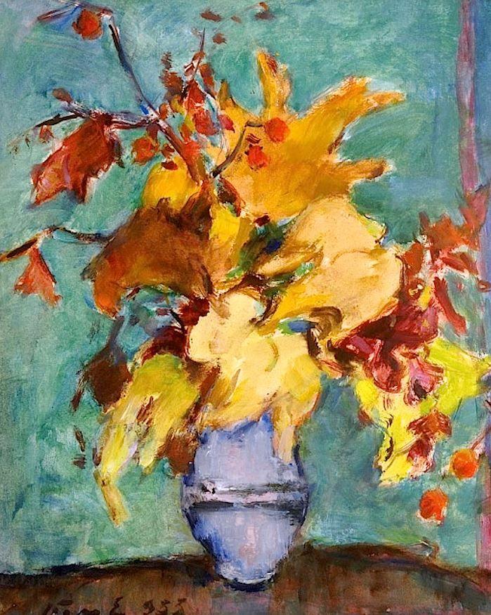 Vass Elemér (1887-1957): Still Life with Flowers