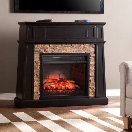 Home Stone Electric Fireplace Media Fireplace Faux Stone
