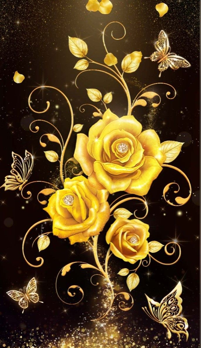 Pin By Marlena Alvirez On Roses Gold Wallpaper Background Cute