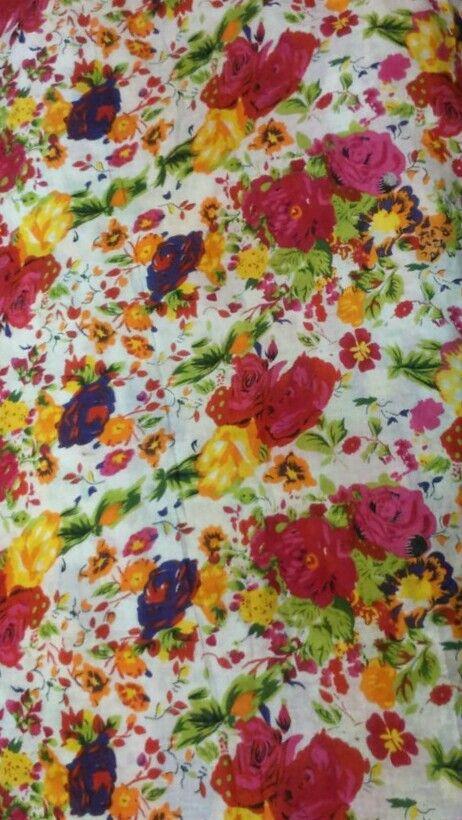 Floral prints on cotton
