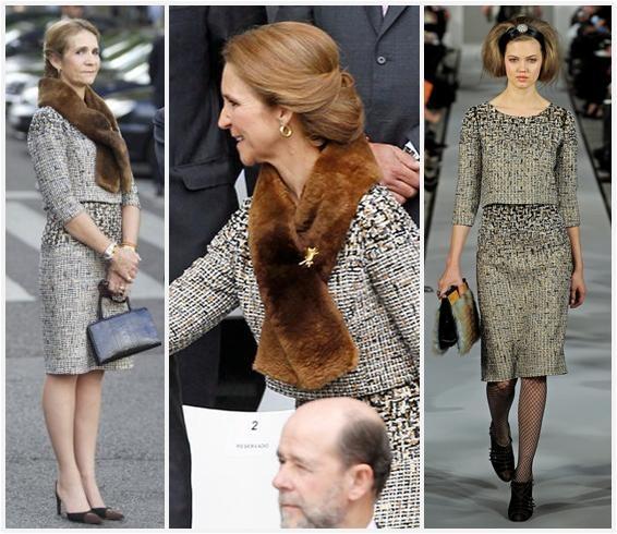 The Royal Order of Sartorial Splendor: Princess Elena in Oscar de la Renta for Spain's National Day