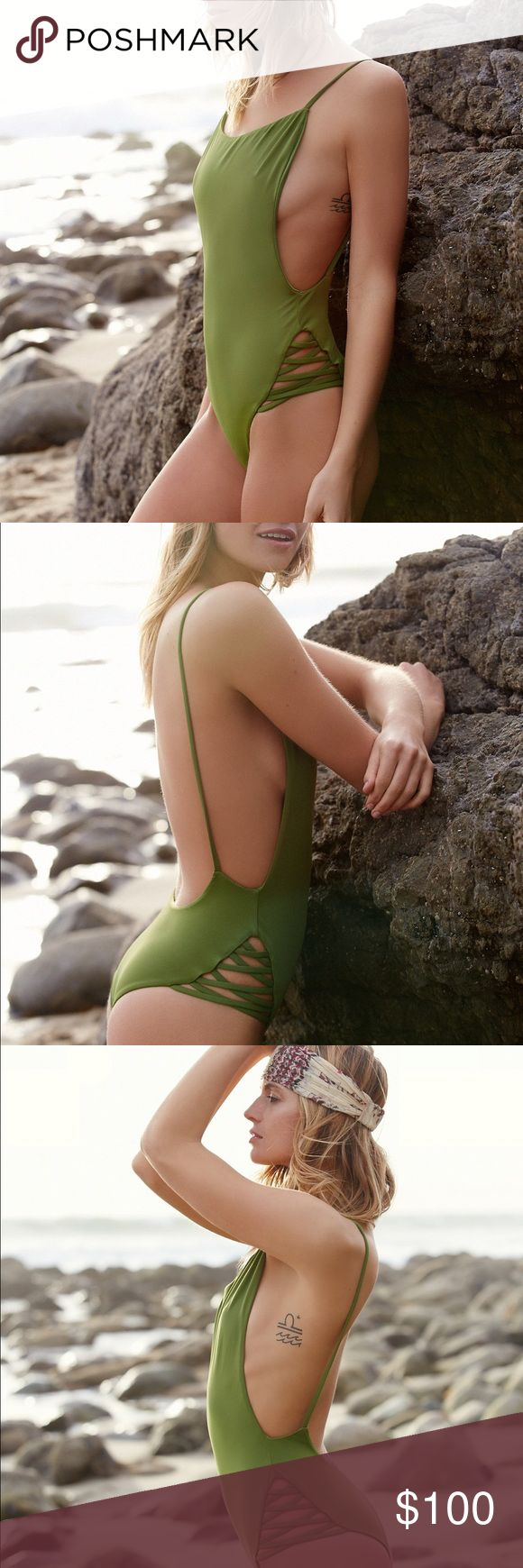 Free People x Beach Riot Olivia One Piece Swimsuit NWOT. The most beautiful suit! Bodysuit Beach Riot Swim