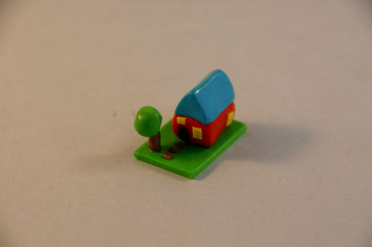 Miniature house - polymer clay