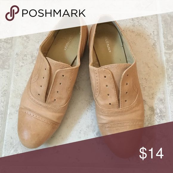 Tan loafers Simple slides only worn a couple times Old Navy Shoes Flats & Loafers