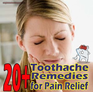 20+ Toothache Remedies For Pain Relief. Perfect for me now because mi wisdom teefusus are killing me! Time to get them out.