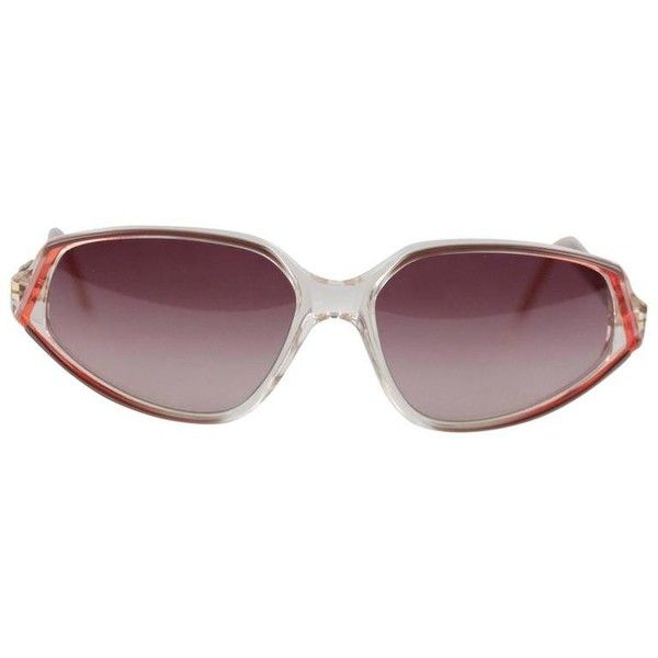 Preowned Yves Saint Laurent Vintage Mint Red Sunglasses Mod Nemesis... (240 CAD) ❤ liked on Polyvore featuring accessories, eyewear, sunglasses, red, gold lens sunglasses, vintage sunglasses, gradient sunglasses, clear lens sunglasses and cateye sunglasses