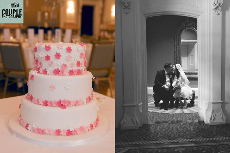 Fabulous cake and a wedding kiss at the Westin Hotel Dublin. http://www.couple.ie