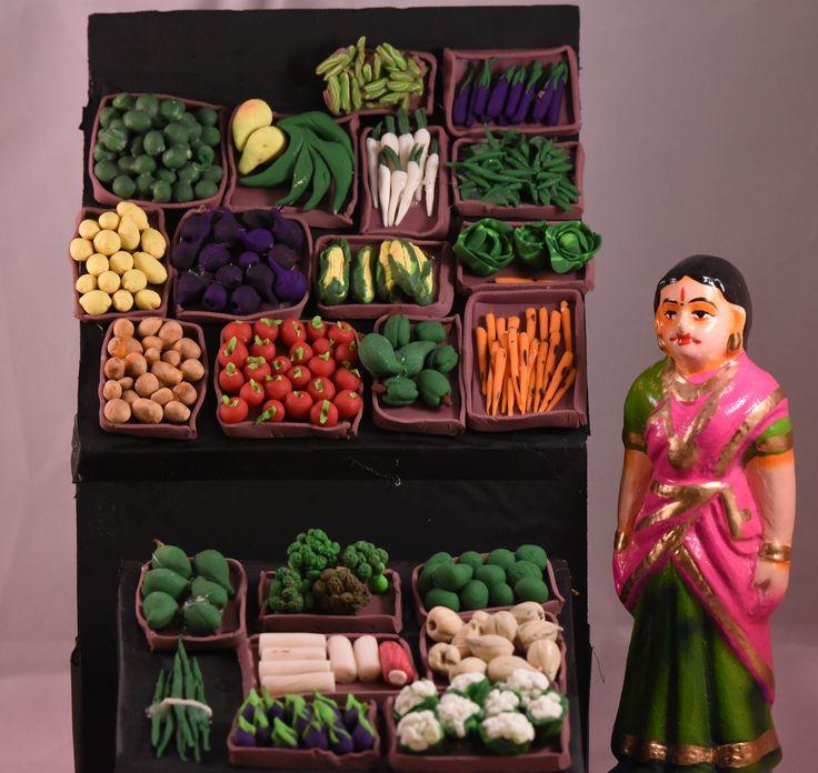 Vegetable Stall - (Golu 2015 - Santhai / Market)