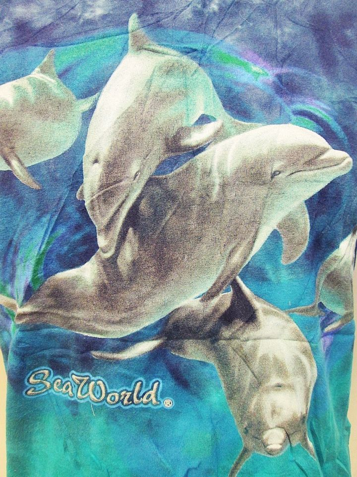 retro animal print tees dolphin t shirt small - Small Animal Pictures To Print