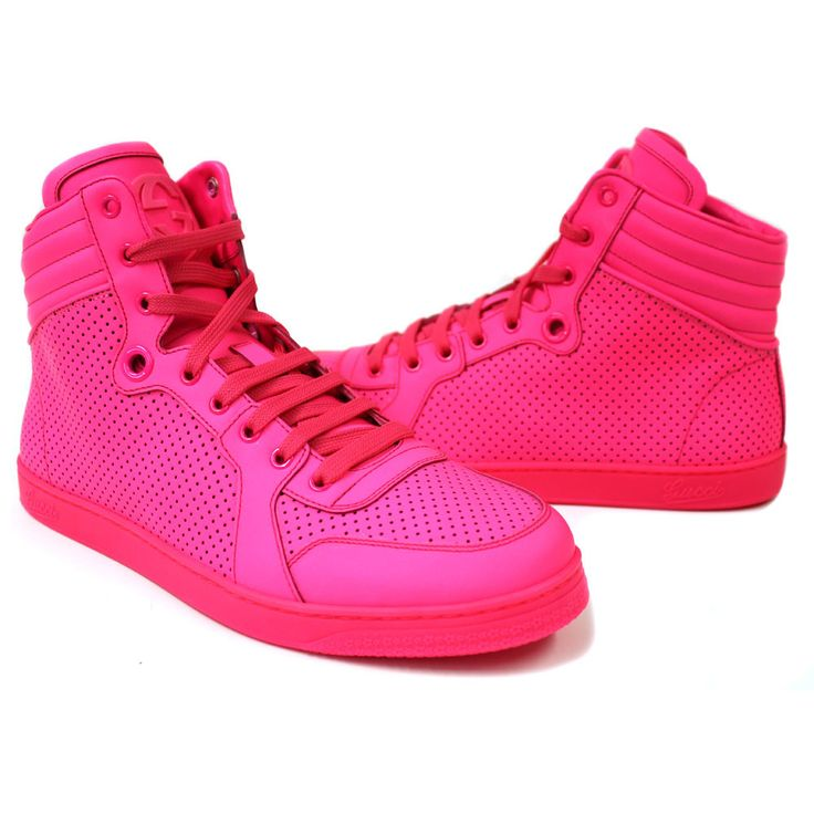 gucci men 39 s neon pink coda high top sneaker men 39 s shoes pinterest pink sneakers and products. Black Bedroom Furniture Sets. Home Design Ideas